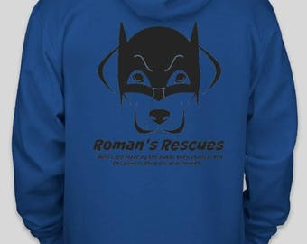 Roman's Rescue youth hoodie