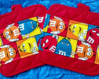 M&M's Pot Holders - Hot Pads