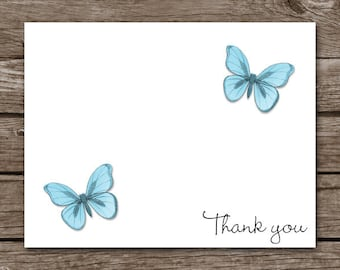 PRINTABLE Butterfly Note Cards, Butterfly Cards, Butterfly Notecards, Butterfly Stationery, Personalized Note Cards,