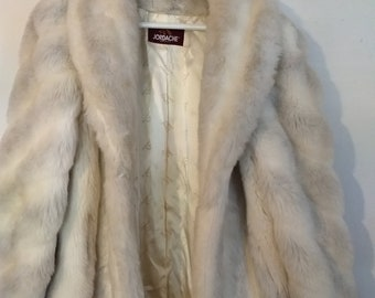 Vintage faux fur coat Jordache brand size 13/14 Very Good Condition
