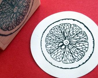 Lemon Citrus Slice Rubber Stamp Orange Lime - Handmade by BlossomStamps