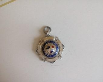 Vintage Silver and Enamel Medal FOB - 16 grammes - 12105