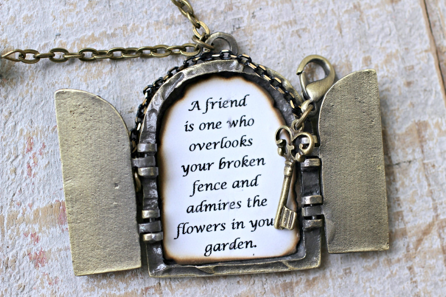 by dual lockets etsy locket pin manocelebrates friendship on quotes