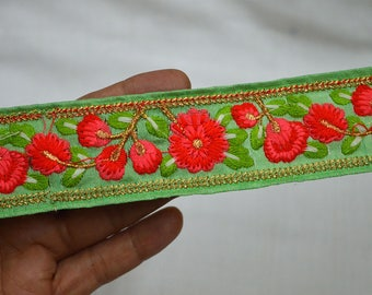Embroidered Saree Indian Laces Trim Decorative Trims Sari Border Trimmings Crafting Trim By 2 Yard Sewing fabric trims and embellishments