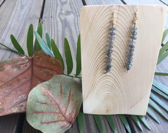 Silk and Labradorite Drops
