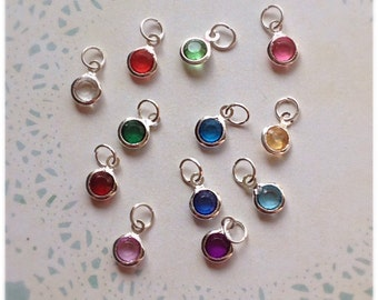 Birthstone Charm Add On, Necklace Add On, Bracelet Add On, Keyring Add On, Personalised Gifts, Personalisation, Birthday,