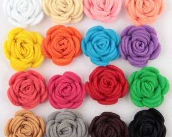10 Cut roses in felt