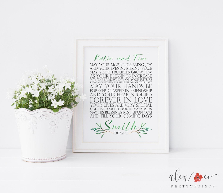 Personalized wedding gift printable wedding gift irish zoom negle Images
