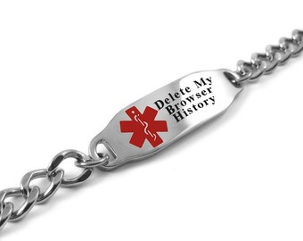 Please Delete My Browser History Bracelet, Funny Gift, Geeky Gadgets - i2C-BS1