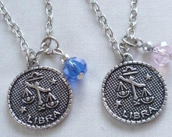 Zodiac birthstone necklace,aquarius,pisces,aries,taurus,gemini,cancer,leo,virgo,libra,scorpio,sagittarius,capricorn necklace, jewelry