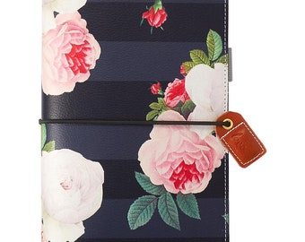 Black Floral STANDARD TN Color Crush Webster's Pages Travelers Planner • Free Washi Tape with this order (TJ001-BF)