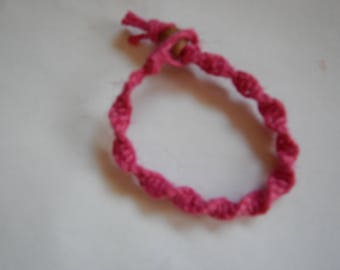 Red Hemp Twist Bracelet