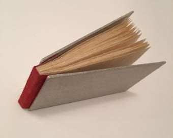 Handmade Mini Book with Red Spine