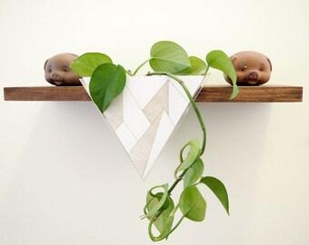 Hanging Planter, Modern Planter, Floating Shelf, Modern Shelf, Geometric Wall Decor, Mid Century Modern, Triangle Planter, Indoor Planter