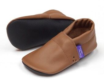 SALE Gift for kids Leather baby shoes handmade toddler prewalker mocasins Barefoot baby boy girl Reclaimed leather