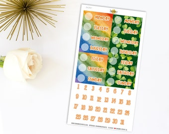 Header Date Cover Planner Stickers Kit 742M1