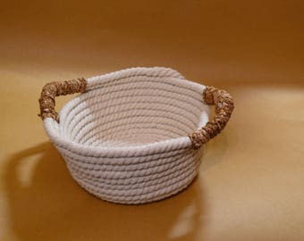 small cotton rope basket