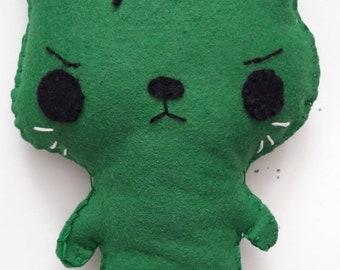 The Incredible Hulk Felt Cat Plush
