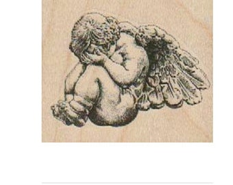 Weeping Angel Baby  rubber stamps    19151  cherub unmounted cling wood mounted  Zombie apocalypse
