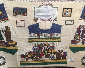 Deck The Halls With Bears And Holly Vest Pattern Panel