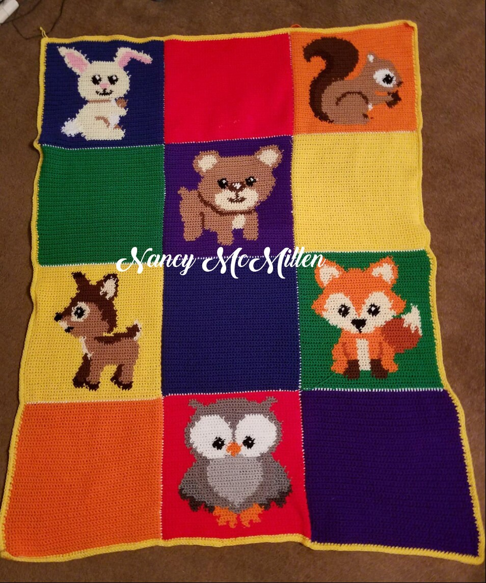 Woodland Animals Fox Owl Bear Deer Squirrel Raccoon Bunny Hedgehog