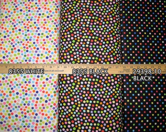 Polka Dot Cotton Fabric! 15 Options! [Choose Your Cut Size]