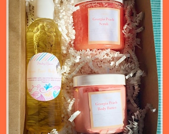 Spa Gift box 3,  choice of scent,  spa gift, bath and body gift set, vegan gift set, spa gift basket, womens gift set