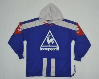 Rare made Japan Vintage Le Coq Sportif 90's Tracktop Track top Hoodie sweater France Size M medium