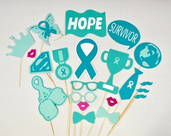 Ovarian Cancer Awareness photo booth props
