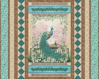 Quilt Pattern - Graceful Splendor  - Beautiful Panel Quilt Pattern - Hard Copy Version - FREE SHIPPING!!