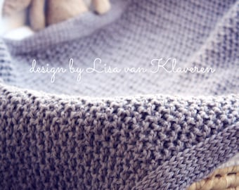 Download Now - CROCHET PATTERN Luxe Textured Blanket - Make to Any Size - Pattern PDF
