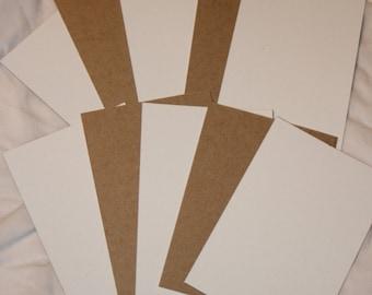 """20 white brown cardboard chipboard hair tie ties display cards 4.75"""" x 3.25"""""""