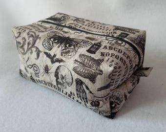 Ouija and Skulls Box Zipper Pouch