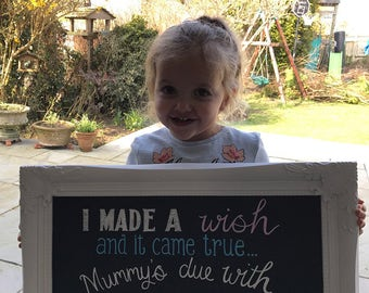 Announcment chalkboard sign. Baby, engagement,party. Personalised