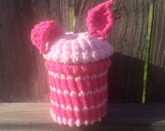 Piglet wide mouth mason jar cover with removable lid