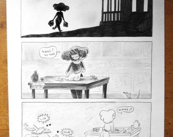 Original drawing - the vampires p.22 cousins