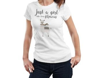 Alpaca shirt women, Alpaca t-shirt for girls, Alpaca tee shirt for women, Alpaca gift,  Alpaca lover gift, Alpaca tshirt Cute Alpaca t shirt
