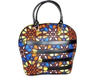 Nice handbag faux leather and wax