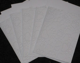 Embossed Paw Print Note Cards
