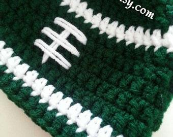 New York Jets Baby Hat, Crochet New York Jets Hat, New York Jets Football Hat, Baby Boy Jets Football Hat, Newborn Jets Photo Prop,Baby Jets