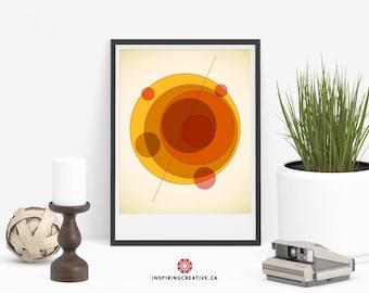 Mid Century Modern Art - Orbit A - Abstract Contemporary Gallery Quality Art Print - Home Decor Art Prints