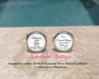 Our Forever and Always Starts Today,Wedding Cufflinks,Custom name and date,Meet me at the Altar,Keepsake,Mens Cufflinks,Cuff links,Groom,104