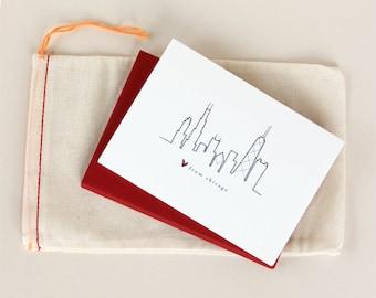 Love from Chicago: Skyline Notecard Set