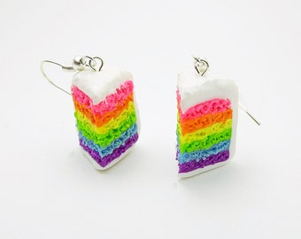 Gay Rainbow Cake Earrings