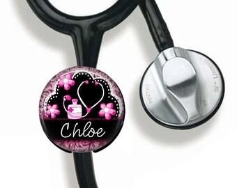 Stethoscope ID, Registered Nurse, Personalized Stethoscope Button, Gift for Nurse, Nursing Graduation Gift, RN LVN, Nurse Practitioner