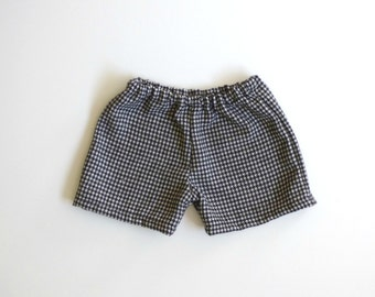Boy toddler shorts, houndstooth wool pants for boys, kids shorts for winter, infant shorts, newborn baby shorts - made to order