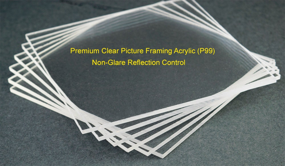 Non Glare Picture Framing Acrylic Sheet. Reflection Control Picture ...