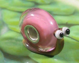 The Snail Race Lampwork Charm Bead