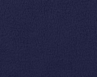 Navy Blue Fleece Fabric - by the yard