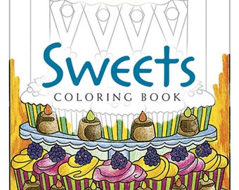 Sweets Coloring Book